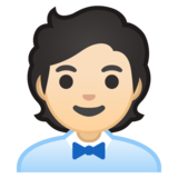 Office Worker: Light Skin Tone on Google Android 10.0 March 2020 Feature Drop