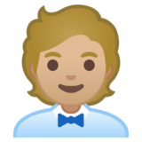 Office Worker: Medium-Light Skin Tone on Google Android 10.0 March 2020 Feature Drop