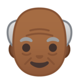 Old Man: Medium-Dark Skin Tone on Google Android 10.0 March 2020 Feature Drop