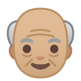 Old Man: Medium-Light Skin Tone on Google Android 10.0 March 2020 Feature Drop