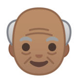 Old Man: Medium Skin Tone on Google Android 10.0 March 2020 Feature Drop
