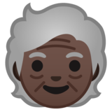 Older Person: Dark Skin Tone on Google Android 10.0 March 2020 Feature Drop