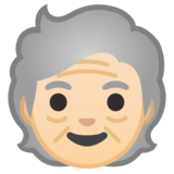 Older Person: Light Skin Tone on Google Android 10.0 March 2020 Feature Drop