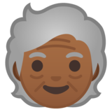 Older Person: Medium-Dark Skin Tone on Google Android 10.0 March 2020 Feature Drop