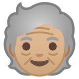 Older Person: Medium-Light Skin Tone on Google Android 10.0 March 2020 Feature Drop