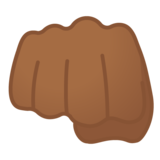Oncoming Fist: Medium-Dark Skin Tone on Google Android 10.0 March 2020 Feature Drop