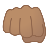 Oncoming Fist: Medium Skin Tone on Google Android 10.0 March 2020 Feature Drop