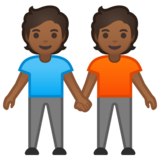 People Holding Hands: Medium-Dark Skin Tone on Google Android 10.0 March 2020 Feature Drop