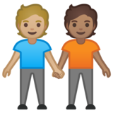 People Holding Hands: Medium-Light Skin Tone, Medium Skin Tone on Google Android 10.0 March 2020 Feature Drop
