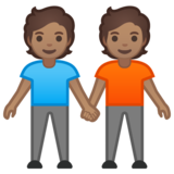 People Holding Hands: Medium Skin Tone on Google Android 10.0 March 2020 Feature Drop