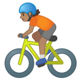 Person Biking: Medium Skin Tone on Google Android 10.0 March 2020 Feature Drop