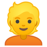 Person: Blond Hair on Google Android 10.0 March 2020 Feature Drop