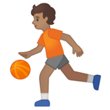 Person Bouncing Ball: Medium Skin Tone on Google Android 10.0 March 2020 Feature Drop