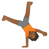 Person Cartwheeling: Medium-Dark Skin Tone on Google Android 10.0 March 2020 Feature Drop