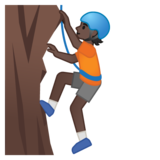 Person Climbing: Dark Skin Tone on Google Android 10.0 March 2020 Feature Drop