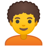 Person: Curly Hair on Google Android 10.0 March 2020 Feature Drop