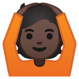 Person Gesturing OK: Dark Skin Tone on Google Android 10.0 March 2020 Feature Drop