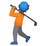 Person Golfing: Medium Skin Tone on Google Android 10.0 March 2020 Feature Drop
