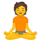 Person in Lotus Position on Google Android 10.0 March 2020 Feature Drop