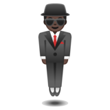 Person in Suit Levitating: Dark Skin Tone on Google Android 10.0 March 2020 Feature Drop