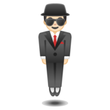 Person in Suit Levitating: Light Skin Tone on Google Android 10.0 March 2020 Feature Drop