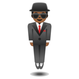 Person in Suit Levitating: Medium-Dark Skin Tone on Google Android 10.0 March 2020 Feature Drop