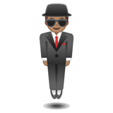Person in Suit Levitating: Medium Skin Tone on Google Android 10.0 March 2020 Feature Drop