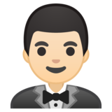 Person in Tuxedo: Light Skin Tone on Google Android 10.0 March 2020 Feature Drop