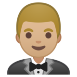 Person in Tuxedo: Medium-Light Skin Tone on Google Android 10.0 March 2020 Feature Drop