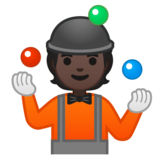 Person Juggling: Dark Skin Tone on Google Android 10.0 March 2020 Feature Drop