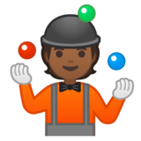 Person Juggling: Medium-Dark Skin Tone on Google Android 10.0 March 2020 Feature Drop