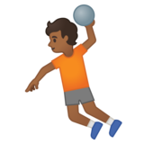 Person Playing Handball: Medium-Dark Skin Tone on Google Android 10.0 March 2020 Feature Drop