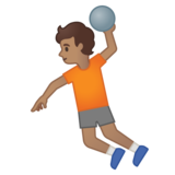 Person Playing Handball: Medium Skin Tone on Google Android 10.0 March 2020 Feature Drop