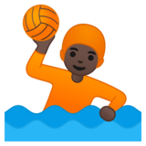 Person Playing Water Polo: Dark Skin Tone on Google Android 10.0 March 2020 Feature Drop