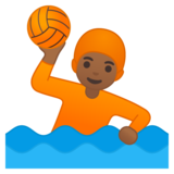 Person Playing Water Polo: Medium-Dark Skin Tone on Google Android 10.0 March 2020 Feature Drop
