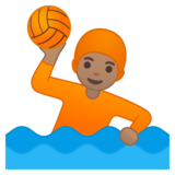 Person Playing Water Polo: Medium Skin Tone on Google Android 10.0 March 2020 Feature Drop