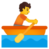 Person Rowing Boat on Google Android 10.0 March 2020 Feature Drop