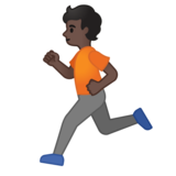 Person Running: Dark Skin Tone on Google Android 10.0 March 2020 Feature Drop