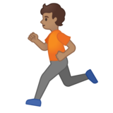 Person Running: Medium Skin Tone on Google Android 10.0 March 2020 Feature Drop