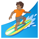 Person Surfing: Medium Skin Tone on Google Android 10.0 March 2020 Feature Drop