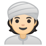 Person Wearing Turban: Light Skin Tone on Google Android 10.0 March 2020 Feature Drop