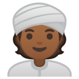 Person Wearing Turban: Medium-Dark Skin Tone on Google Android 10.0 March 2020 Feature Drop