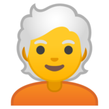 Person: White Hair on Google Android 10.0 March 2020 Feature Drop