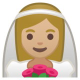 Person With Veil: Medium-Light Skin Tone on Google Android 10.0 March 2020 Feature Drop