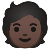Person: Dark Skin Tone on Google Android 10.0 March 2020 Feature Drop
