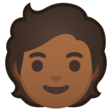 Person: Medium-Dark Skin Tone on Google Android 10.0 March 2020 Feature Drop