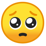 Pleading Face on Google Android 10.0 March 2020 Feature Drop