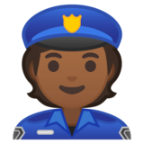 Police Officer: Medium-Dark Skin Tone on Google Android 10.0 March 2020 Feature Drop