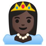 Princess: Dark Skin Tone on Google Android 10.0 March 2020 Feature Drop