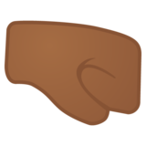 Right-Facing Fist: Medium-Dark Skin Tone on Google Android 10.0 March 2020 Feature Drop